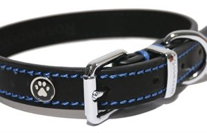 Luxury leather halsband hond leer luxe zwart