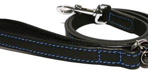 Luxury leather lijn hond leer luxe zwart