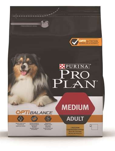 Pro plan dog adult medium kip/rijst