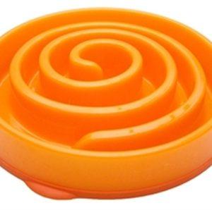 Slo-bowl feeder mini coral spiraal oranje