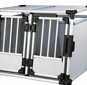Trixie transportbox dubbel aluminium