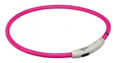 Trixie halsband flash light lichtgevend usb oplaadbaar roze