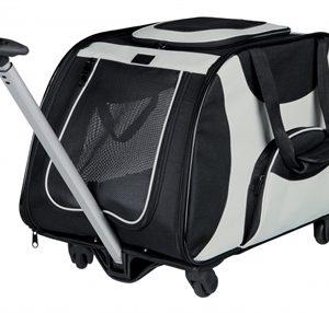 Trixie reismand trolley zwart / grijs