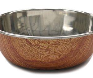 Rosewood rvs voer/drinkbak met hout design