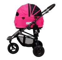 Airbuggy hondenbuggy dome2 sm met rem rose roze