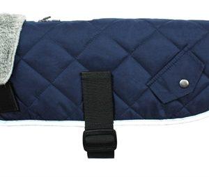 Go walk hondenjas quilted comfort navy blauw