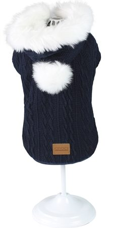 Croci hondentrui sweater cushy blauw / wit